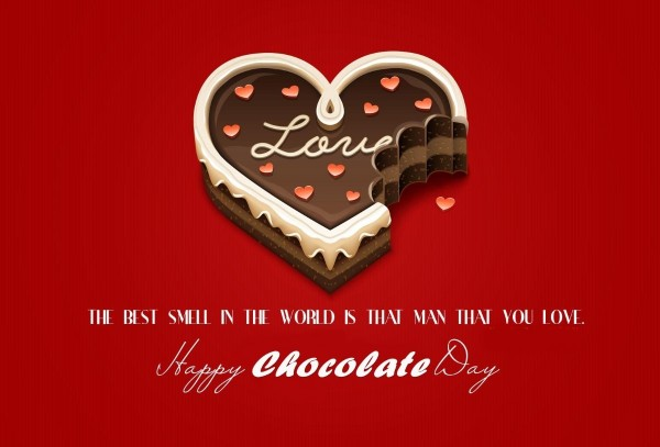 The best smile in the world is that man that you love happy chocolate day