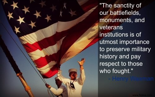The sancity of our battlefields monuments and veterans