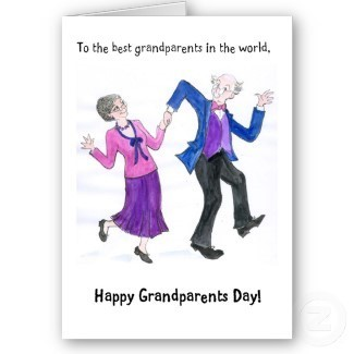To the best grandparents in the world happy grandparents day