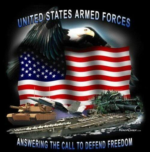 United stated armed forces answering the call to defend freedom