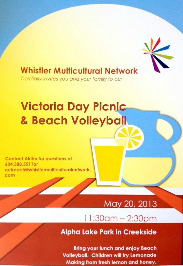 Victoria day picnic beach volleyball