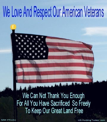We love and respect our american veterans we can not thank you enough for all you have sacrificed so