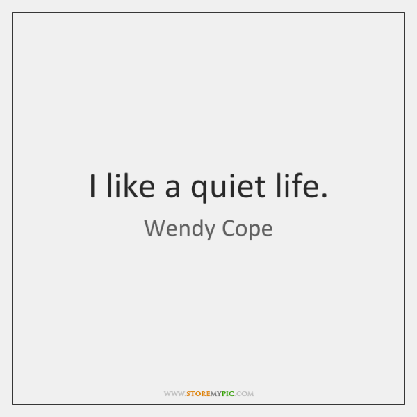 I Like A Quiet Life Storemypic