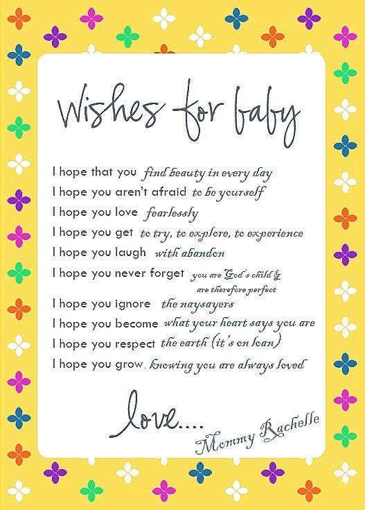 Wishes for new baby