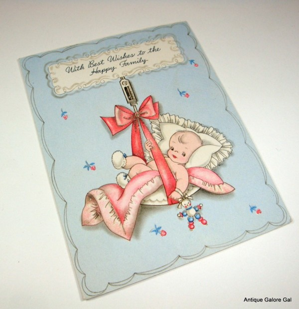 With best wishes to the happy family new baby wishes greeting card