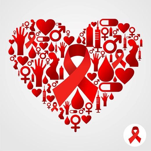 World aids day heart