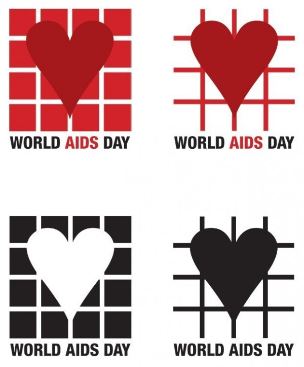 World aids day hearts