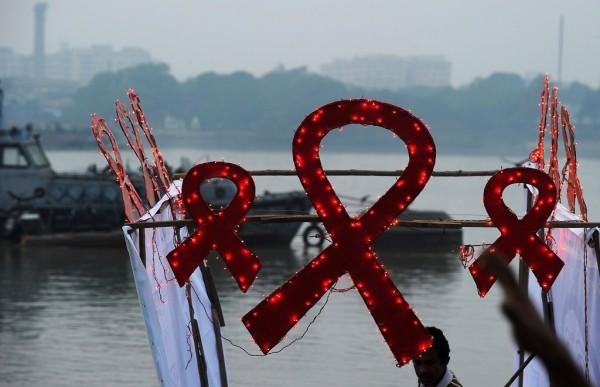 World aids day lightening ribbon