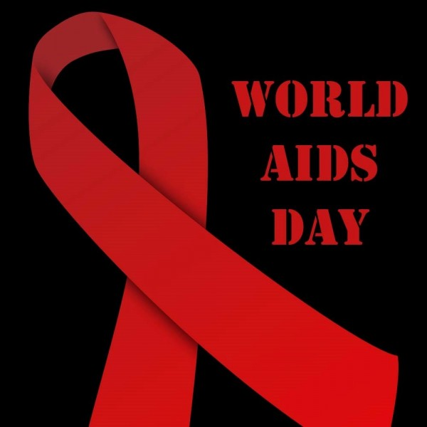 World aids day red ribbon bow picture