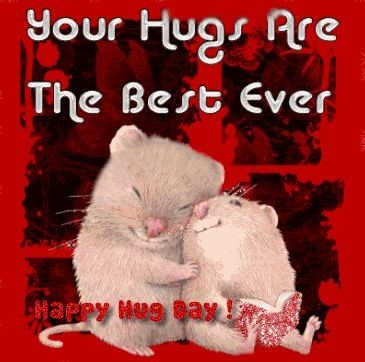 Your hugs are the best ever happy hug day