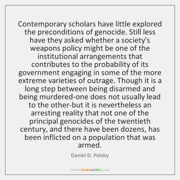 Contemporary scholars have little explored the preconditions of genocide. Still less have ...