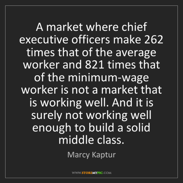 Marcy Kaptur: A market where chief executive officers make 262 times...