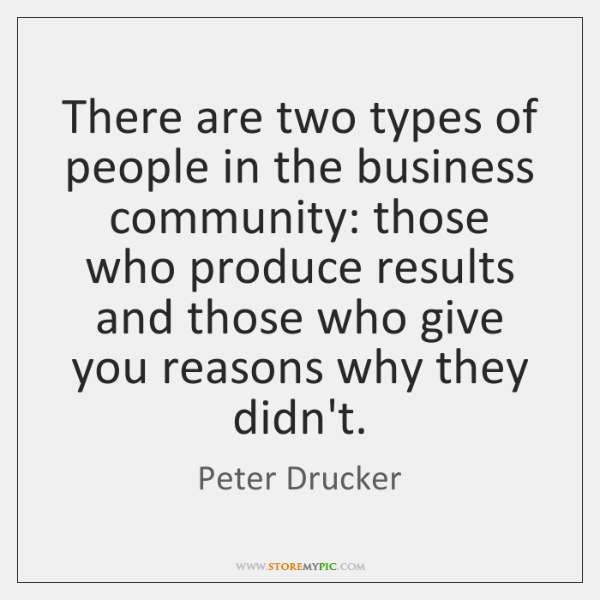 There are two types of people in the business community: those who ...