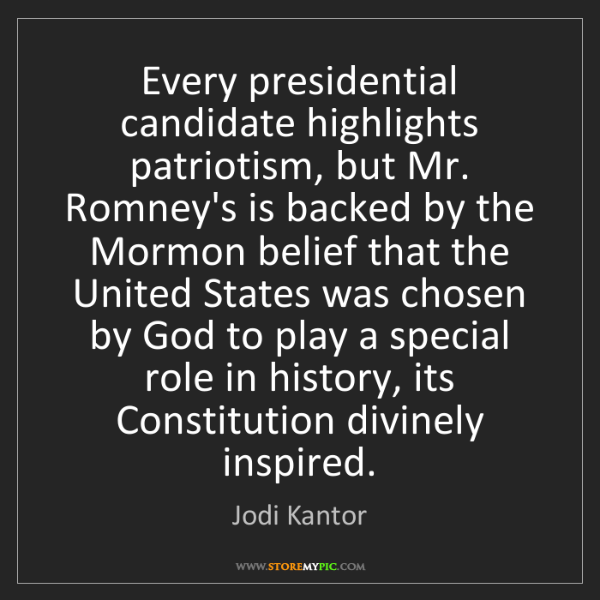 Jodi Kantor: Every presidential candidate highlights patriotism, but...
