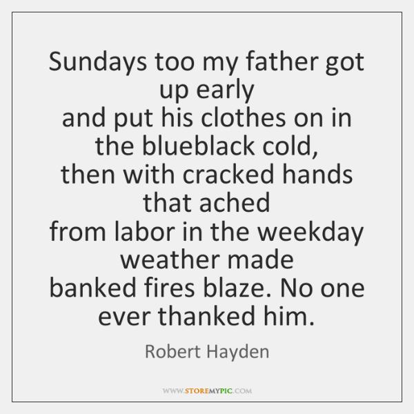 sundays too my father