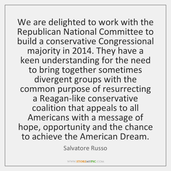 We are delighted to work with the Republican National Committee to build ...