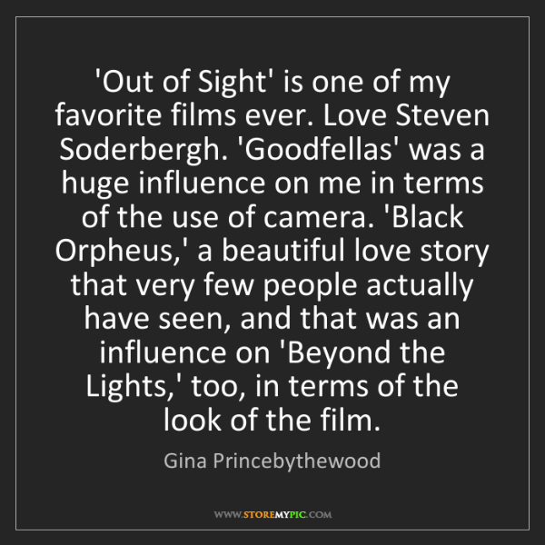 Gina Princebythewood: 'Out of Sight' is one of my favorite films ever. Love...