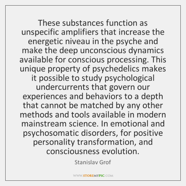 These substances function as unspecific amplifiers that increase the energetic niveau in ...