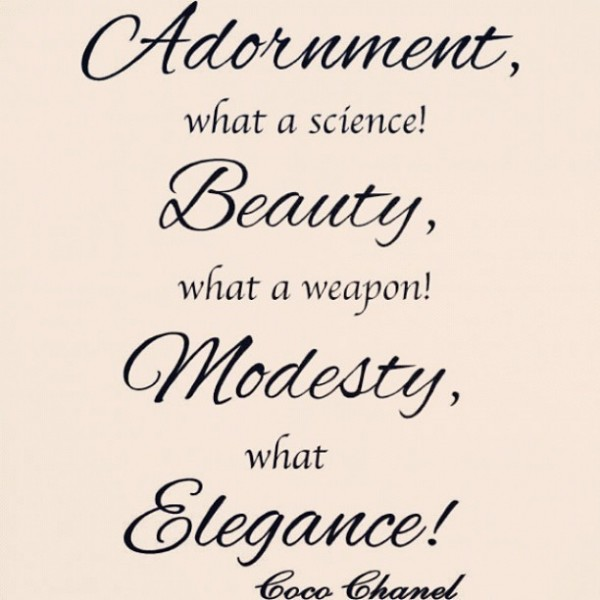 Adornment what a science beauty what a weapon