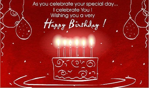 As you celebrate your special day i celebrate you wishing you a very