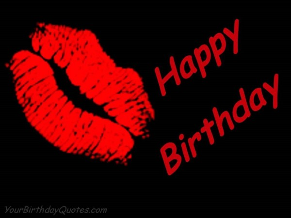 Happy birthday lips graphic