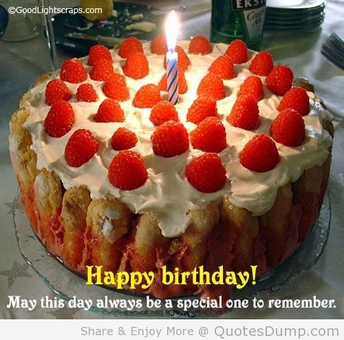 Happy birthday may this day always be a special one to remember