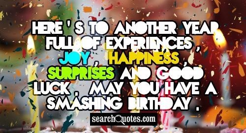 Heres to another yearr full of experiences joy happiness surprises and good luck may