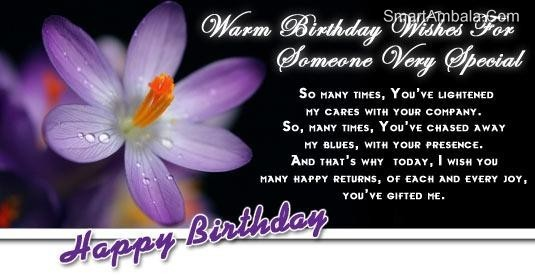 Warm Birthday Wishes For Someone Very Special Storemypic