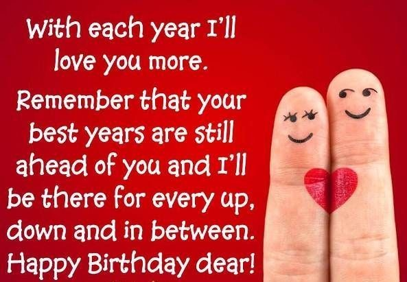 With each year ill love you more remember that your best years are still ahead of you