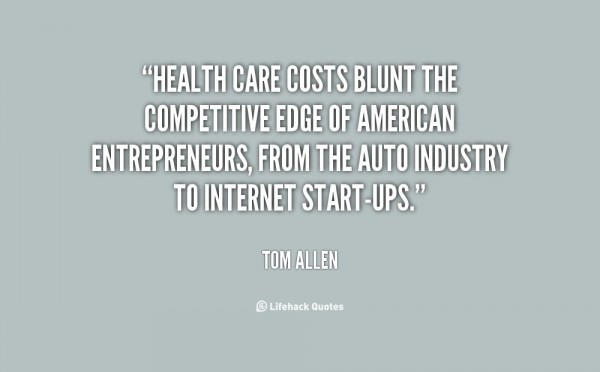 Health care costs blunt the competitive edge of americn entreprenurs from the auto indu