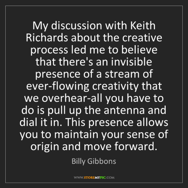 Billy Gibbons: My discussion with Keith Richards about the creative...
