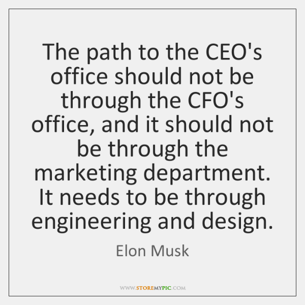 The path to the CEO's office should not be through the CFO's ...