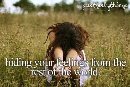 Hiding Your Feeling From The Rest Of The World Storemypic