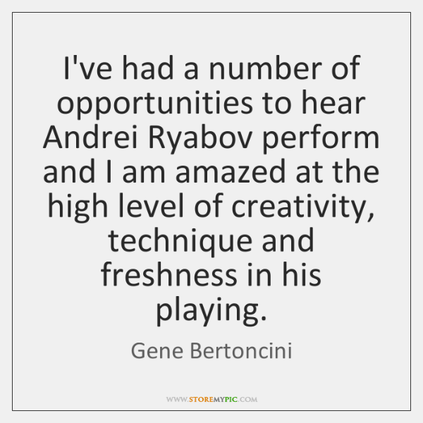 I've had a number of opportunities to hear Andrei Ryabov perform and ...