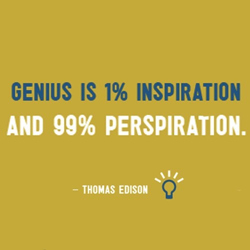 Genius Is 1 Inspiration And 99 Perspiration