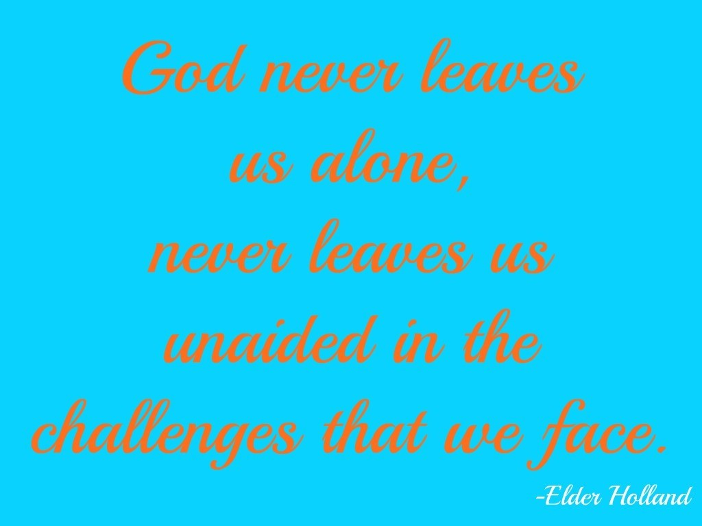God never leaves us alone never leaves us unaided in the