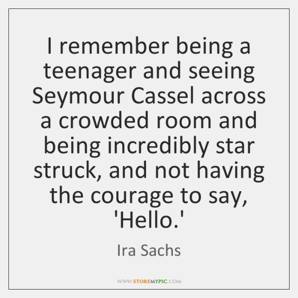 I remember being a teenager and seeing Seymour Cassel across a crowded ...