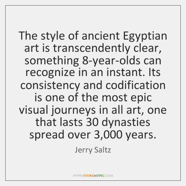 The style of ancient Egyptian art is transcendently clear, something 8-year-olds can ...