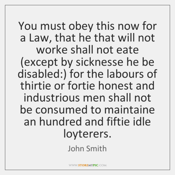 You must obey this now for a Law, that he that will ...
