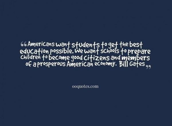 American want students to get the best education possible