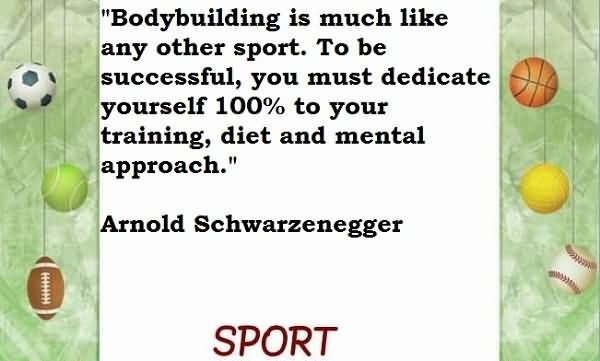 Bodybuilding is much like any other sports to be successful you must dedicate yourself