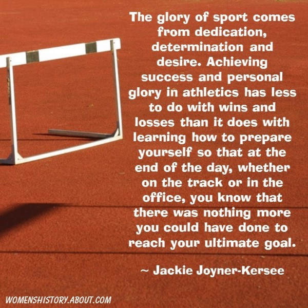 The glory of sport comes from dedication determination and desire achieving success and