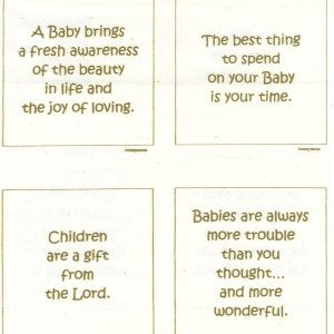 A baby brings a fresh awareness of the beauty in life and the joy of loving
