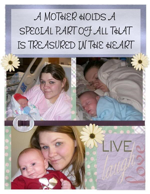 A mother holds a special part of all that is treasured in the heart