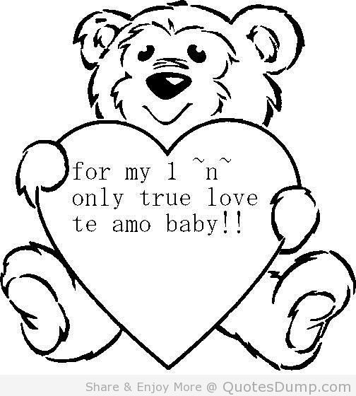 For my i n only true love te amo baby