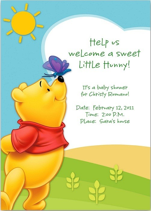 Help us welcome a sweet little hunny its baby shower for christy romano