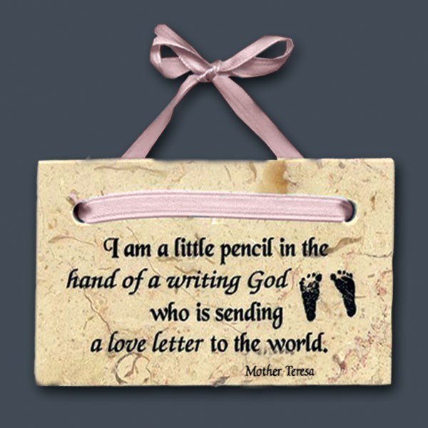 I am a little pencil in the hand of a writing god who is sending a love letter to the wor