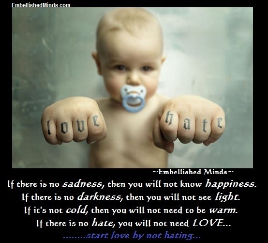 If there is no sadness then you will not know happiness if there is no darkness then you