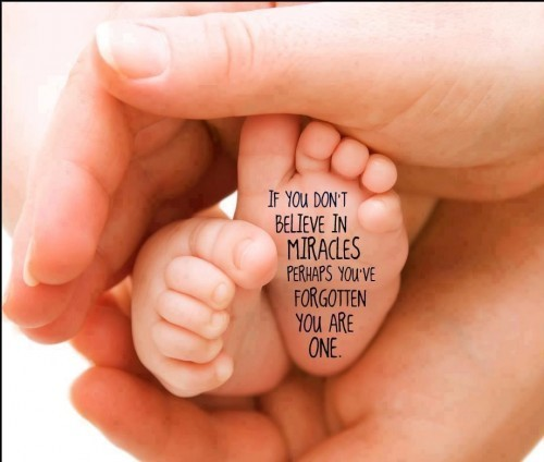 If you dont believe in miracles perhaps you ve forgotten you are one