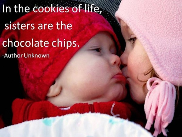 In the cookies of life sisters are the chocolate chips